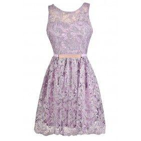 Cute Lavender Dress, Lavender Lace Dress