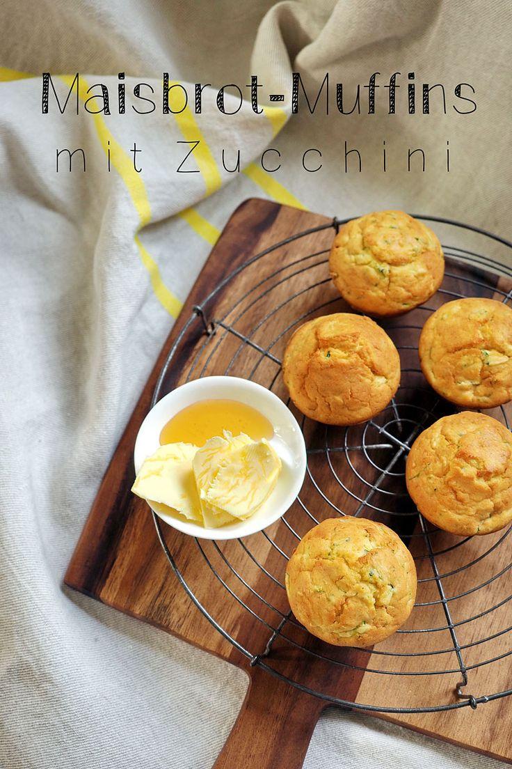 "Zucchini-Maisbrot-Muffins - Rezept auf ""Fee ist mein Name"""