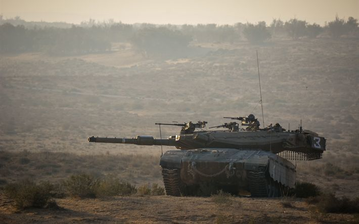 Download wallpapers Merkava Mk 2D, 4k, Israeli battle tank, modern armored vehicles, tanks, Israel, Merkava