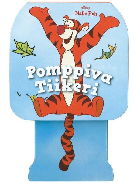 Nalle Puh: Pomppiva Tiikeri -pikkukirja todella pomppii! Lukekaa yhdessä sympaattinen tarina ja pomputtakaa samalla Tiikeriä: kun Tiikerin hännän painaa alustaa vasten ja päästää irti, veikeä kissaeläin on elementissään.