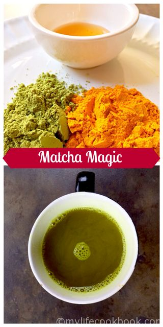 My friend Debbie got me hooked on matcha.  It's so good for you and the added benefits of turmeric, apple cider vinegar and honey make this my morning tonic.