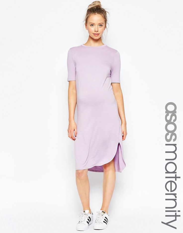 ASOS Maternity Curved Hem Dress with Half Sleeve