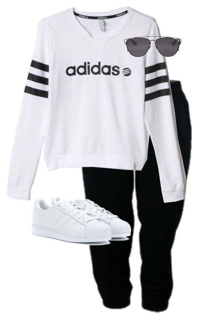 """""""Untitled #9249"""" by alexsrogers ❤ liked on Polyvore featuring adidas, adidas Originals and Christian Dior"""