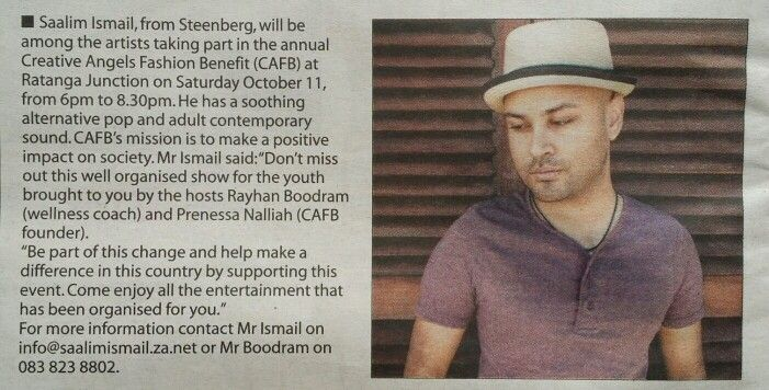 A 'lil something in todays #SouthernMail about Saturdays #CAFB events happening at #RatangaJunction   #Muzes #entertainment #music #fashion #brand #charity #singer #songwriter #fun #family #friends #social #live