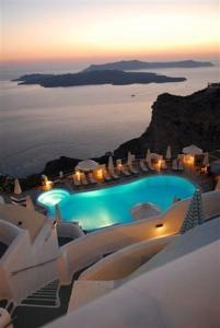 Volcano View Hotel, Fira, Greece - Standing majestically on the edge of the cliffs...