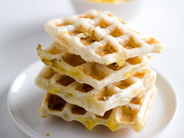 Wafeltjes van kip en mango