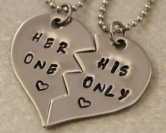 Her One His Only Necklace Set $25.00