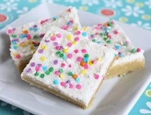 Easy Dessert Recipe for Sugar Cookie Bars. Ok I just made this and they are really good and fast!