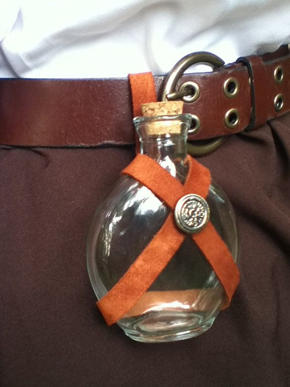 Renaissance Belt Bottle by TheSilverOakLeaf on Etsy