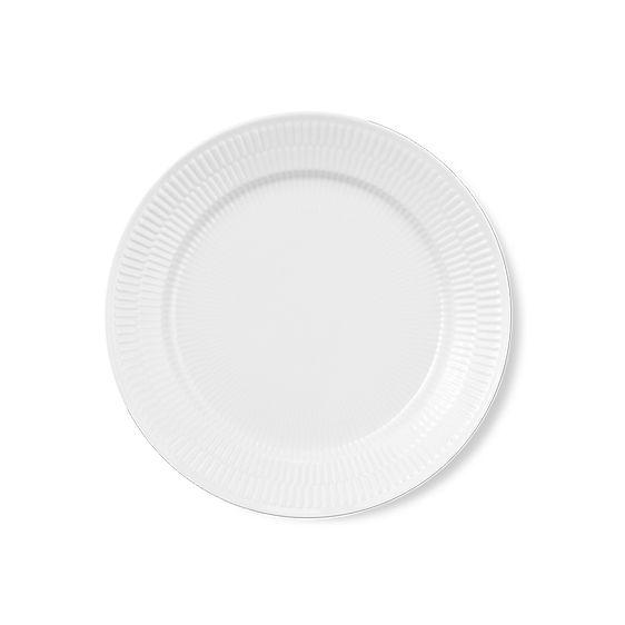 Royal Copenhagen White Fluted Lunchplate 22 cm
