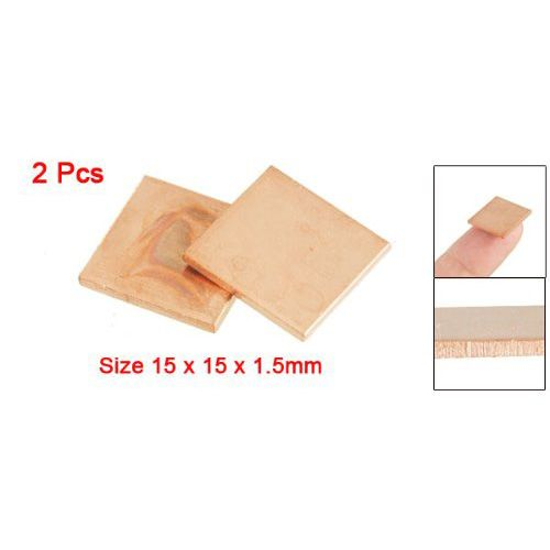 10 Pcs Wholesale Gino 2 Pcs 15mm x 15mm x 1.5mm Heatsink Thermal Copper Pad for Laptop GPU