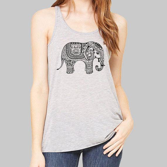 Olifant Shirt - olifant tank boven, Damesmode, Bella flowy tank top