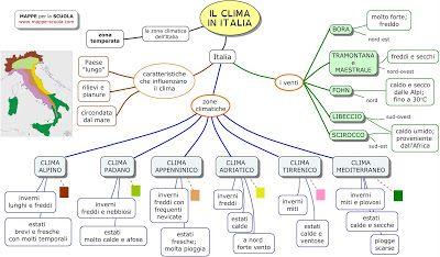 MAPPE per la SCUOLA: IL CLIMA IN ITALIA