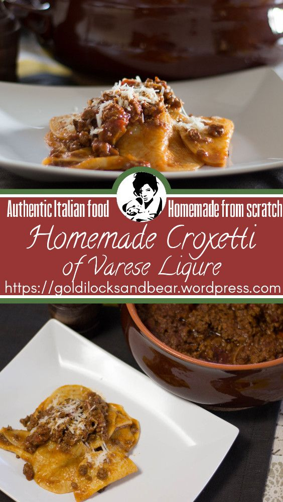 The Croxetti are an ancient Italian pasta from Varese Ligure, in Liguria, usually served with a mushroom and meat ragu with tomato, rosemary and bay tree leaves. A wonderful dish for special events that you can make and freeze for many months.