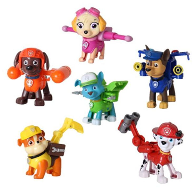 6pcs/lot Juguetes Kids Toys Action Figure Animal Patrulla Canina Toys Puppy Patrol Dogs Baby Gift Doll Birthday Movable Joints #clothing,#shoes,#jewelry,#women,#men,#hats,#watches,#belts,#fashion,#style