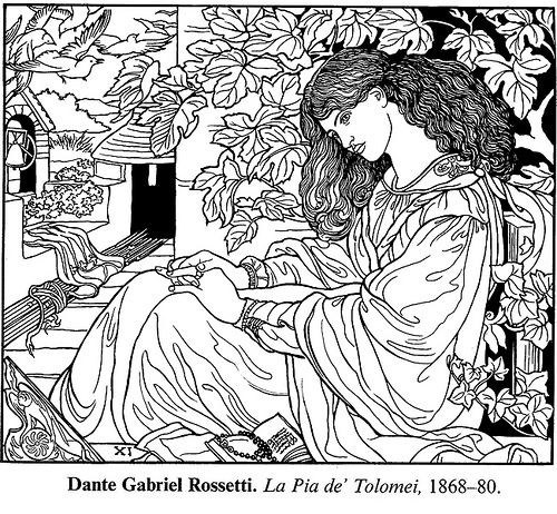 rossetti coloring page free from dover publications flickr photo sharing