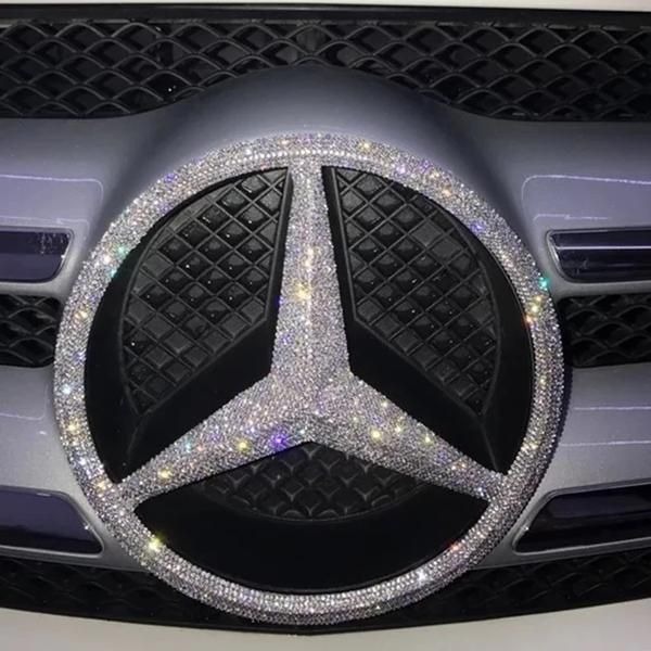 Bling Mercedes Benz Logo Front Grille Rear Trunk Emblem Decals Made W Rhinestone Crystals Mercedes Benz Logo Mercedes Benz Cars Car Bling