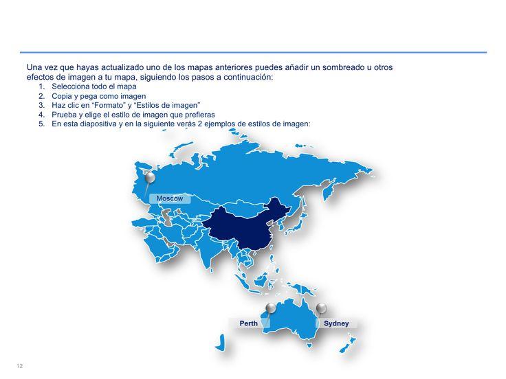 mapa interactivo de Asia Pacífico en PowerPoint