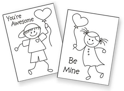 The 25 best Coloring valentines cards for kids ideas – Valentine Coloring Cards