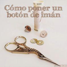 Vt. ¿Sabes poner un botón de imán en un bolso de trapillo? Tutorial foto a foto | Santa Pazienzia
