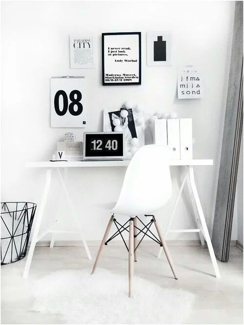 simple + minimal desk space