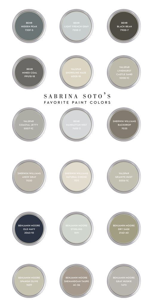 Sabrina's Favorite Paint Colors | CASA & Company by rosanne