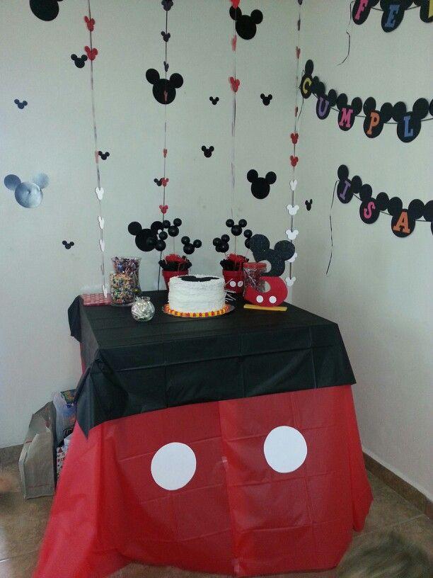 Mickey Mouse Decoracion Mesa ~ de mesa cumplea?os de mickey Decoracion Delante, Decoracion Mickey