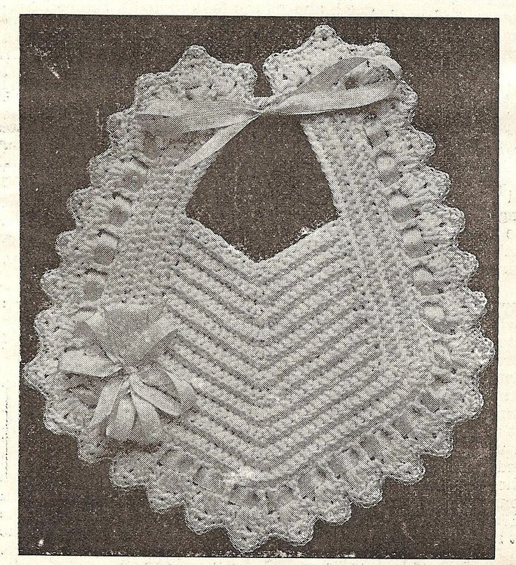Little Grey Bungalow: Crochet - a Bib from 1915