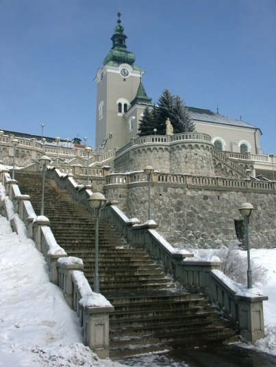 Ružomberok -  stairs towards Rynok and St. Andrew's Church - my hometown!