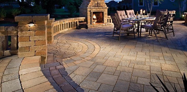 I like the variety of pavers used as the surface, not real fond of the columns though.