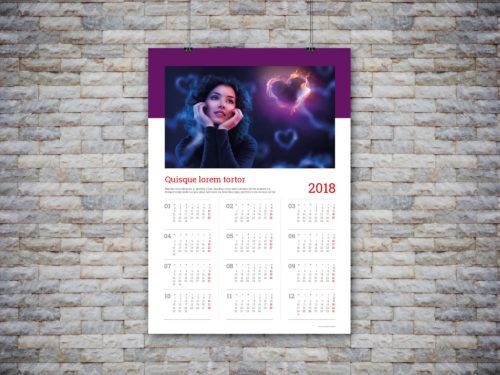 customizable calendar template 2018