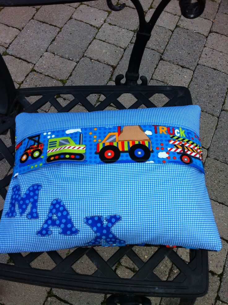 Back of Max's cushion