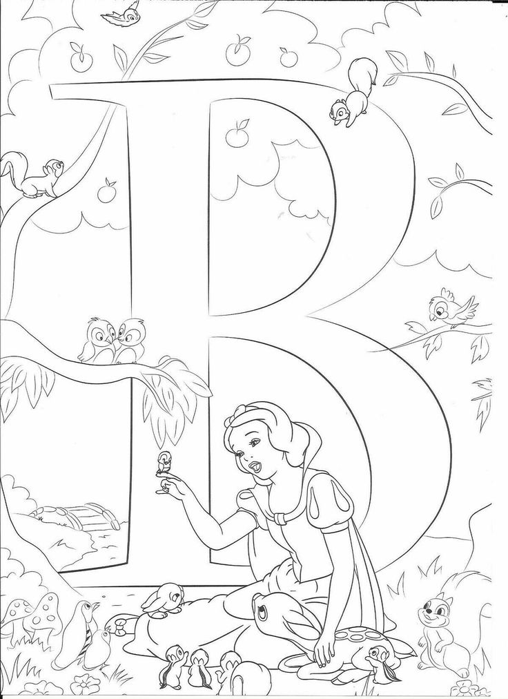 20+ Disney alphabet coloring pages m information