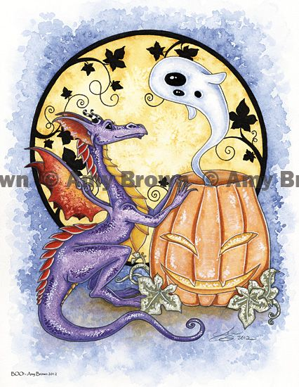 "Amy Brown: Fairy Art - The Official Gallery - ""Halloween - BOO"""