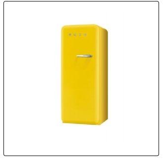 GELB smeg: Standkühlschrank mit Gefrierfach, FAB28LG1 sonnengelb Linksanschlag A++