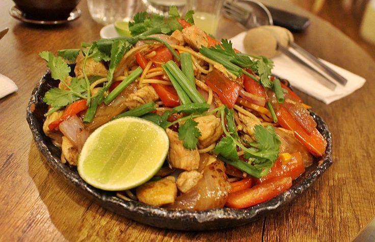 Morena Peruvian Kitchen: Excelente restaurante de comida peruana,próximo a Plaza de Armas de Cusco. Este prato é o talharim saltado, uma mistura de prato chinês e peruano, com macarrão, frango e legumes.