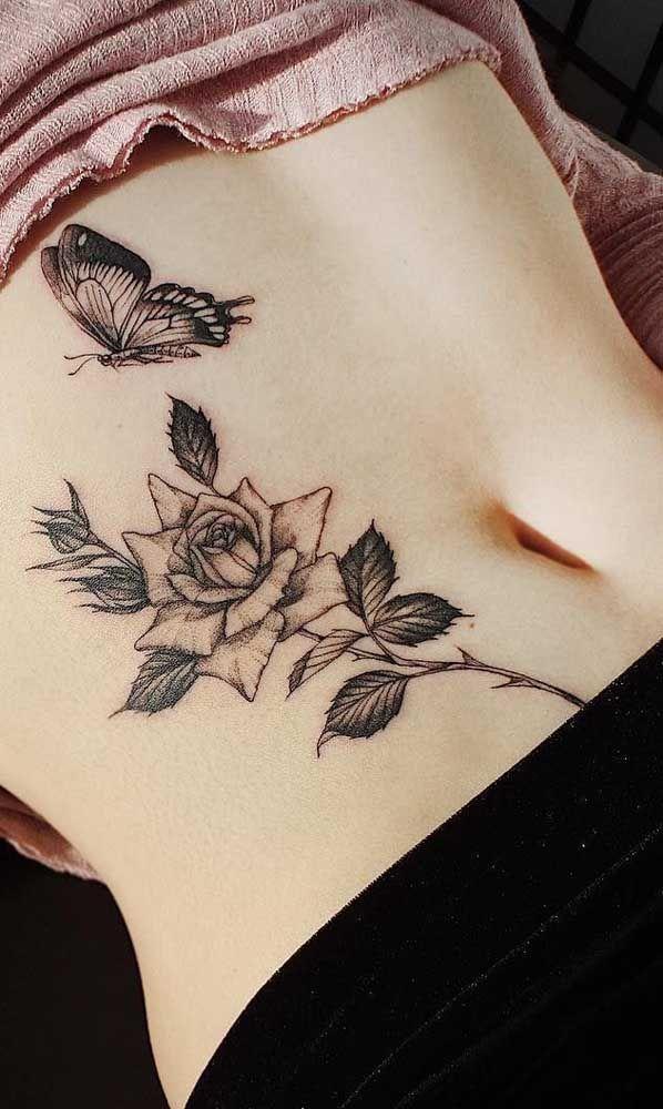 Tatuagem na barriga: 60 ideias e inspirações para você conferir | Tatuagem, Tatuagem sobre cicatriz, Tatuagem na barriga