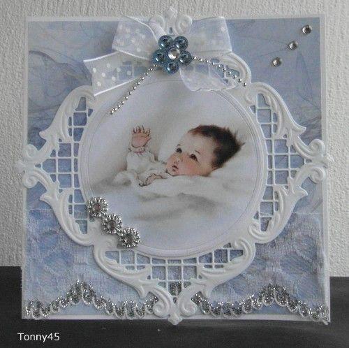 Voorbeeldkaart - Babykaart - Categorie: Stansapparaten - Hobbyjournaal uw hobby website
