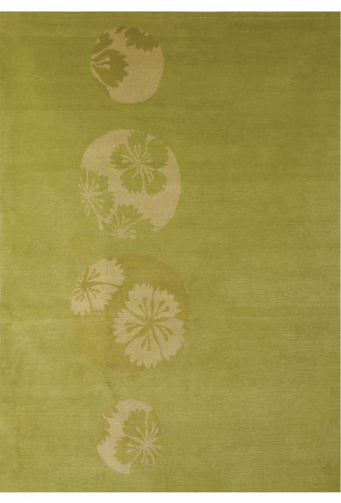 GLIMPSE-FLOWER contemporary Floral Asian Area Rugs - collection - EMMA GARDNER DESIGN contemporary area rugs, modern rugs, goodweave hand-tufted rugs, hand-knotted rugs