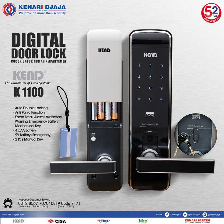 Digital Door Lock K1100 Adalah Sebuah Kunci Praktis Dan Aman Yang Dapat Diakses Dengan Pin, RFID Card Dan Manual Key, Menjadikan Keamanan Rumah Anda Lebih Terjamin Dapatkan Segera Hanya Di Kenari Djaja ...  Informasi Hub. : Ibu Tika 0812 8567 7070 ( WA / Telpon / SMS ) 0819 0506 7171 ( Telpon / SMS )  Email : digitalmarketing@kenaridjaja.co.id  [ K E N A R I D J A J A ] PELOPOR PERLENGKAPAN PINTU DAN JENDELA SEJAK TAHUN 1965