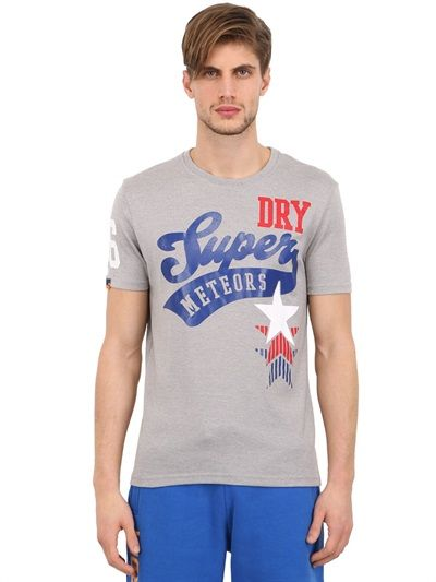 SUPERDRY - ATHLETIC STARS PRINTED COTTON T-SHIRT - LUISAVIAROMA - LUXURY SHOPPING WORLDWIDE SHIPPING - FLORENCE