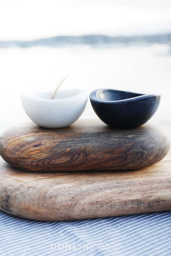 Chelsea Marble Salt and Pepper Bowls.