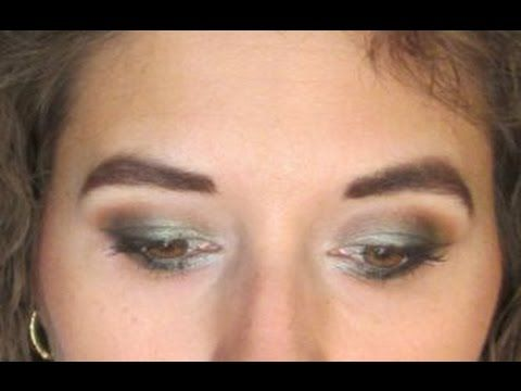Green and Orange-Brown Smokey Eye  Tutorial