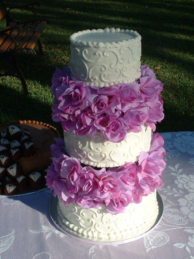 Tier White Buttercream Wedding Cake