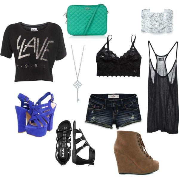 Summer rock concert, created by #kelli-hardin on #polyvore. #fashion - 12 Best August 30th! Images On Pinterest