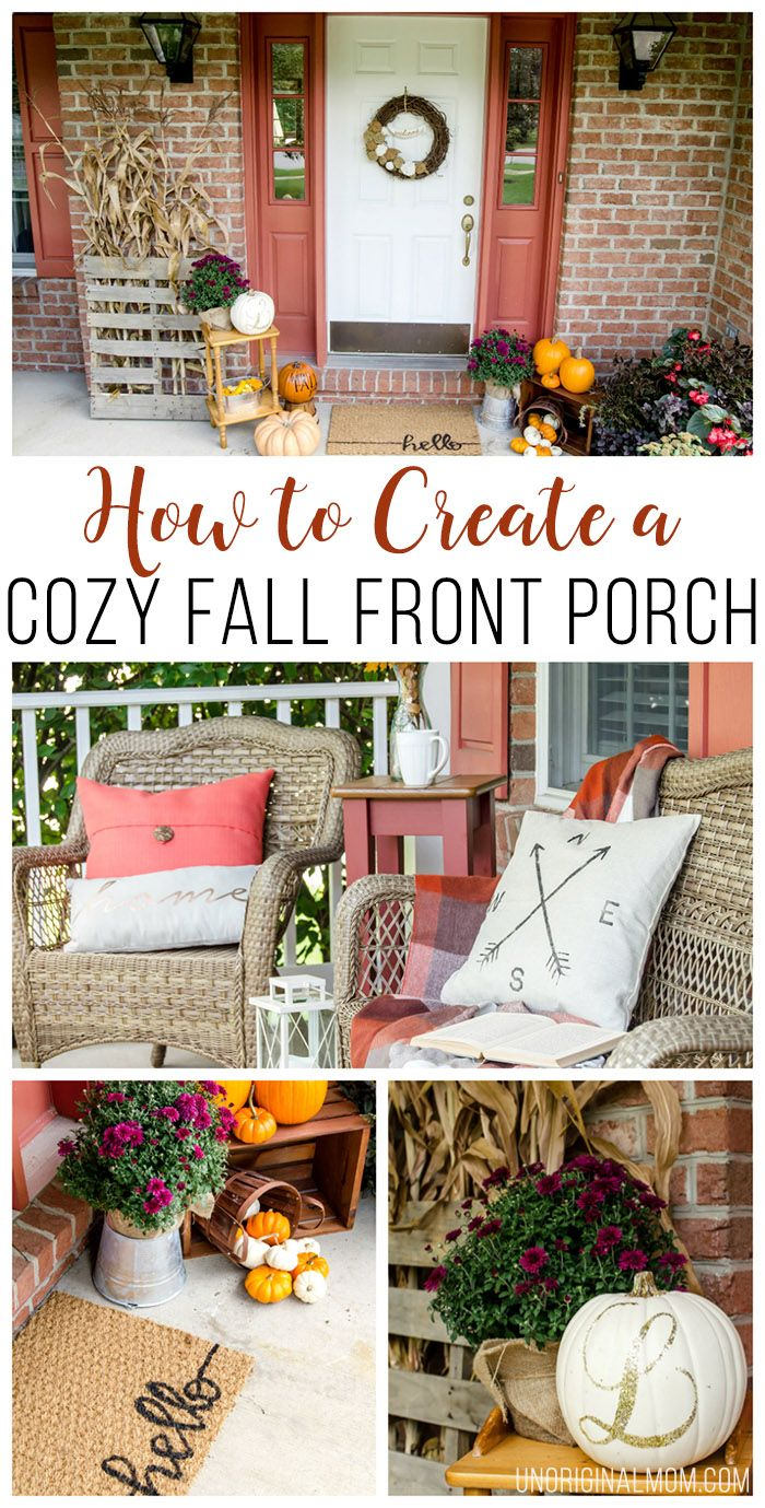 How to create a cozy fall front porch beautiful fall Beautiful fall front porches
