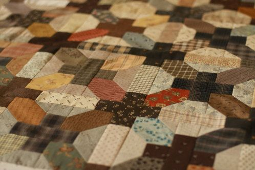 One Quilt Block - Two Ways.   This block is also made and put together with pastels differently on the site MAKE IT DO.