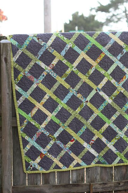 another yummy grey quilt... made for her grandparents