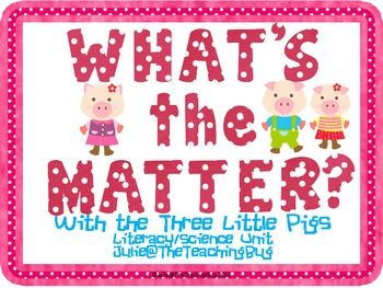 Three Little Pigs-States of Matter-Learning Unit | See more about Grade 1