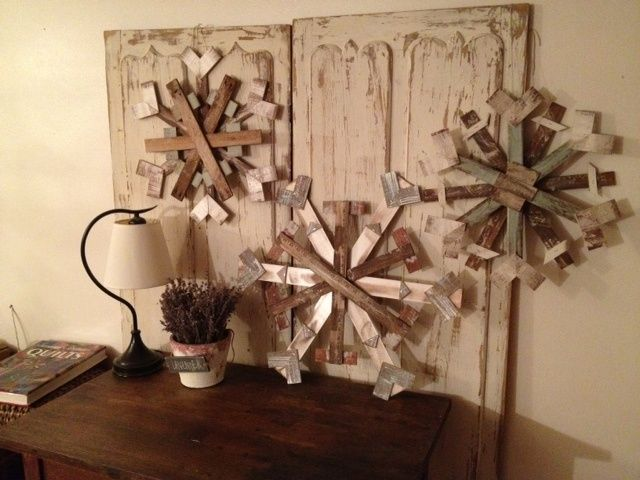 Scrap+Wood+Crafts | Scrap Wood Snow Flakes | crafts